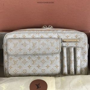 Louis Vuitton Silver mini Lin Shine McKenna bag